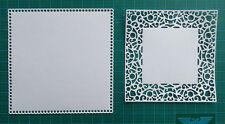 8 square doily card toppers Joy Crafts paper die cuts vintage victorian ornament