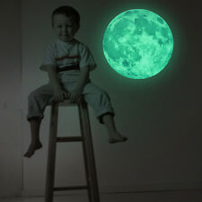 30cm Luminous Moon Glow in the Dark Wall Stickers Moonlight Home Decor Room