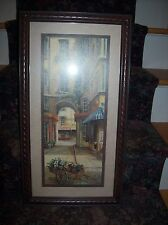 Home Interiors Picture Flower Cart/Wagon - French Venue - Artist Signed