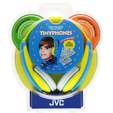 Jvc garçons minuscule téléphones jaune/bleu casque, décorées avec fourni autocollants 4+