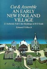 HO 1:87 Scale Early New England Village  Cut & Assemble Card Model Book Gillon