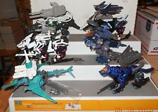 2001 Hasbro Tomy ZOIDS 6 Action Figure collection Lot Rare VHTF