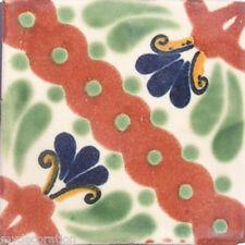 C#065) MEXICAN TILE CERAMIC TALAVERA MEXICO HAND MADE ART TALAVERA TILE