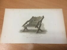 1810 Print Ancient Chair, Priory of Southwick, Hampshire