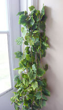 4 Artificial Green Grape Leaf Vines Hanging Wall Home Restaurant Decor
