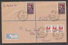 South Africa Sc 289, 303 on 1964 Registered cover, MOUNTAIN ZEBRA PARK cancels