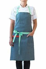 """Hedley & Bennett Apron-""""Adele"""" Blue Denim-NEW WITH TAGS- free shipping"""