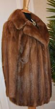 EMBA REAL MINK FUR COAT CHESTNUT SABLE COLOUR STUNNING MINT CONDITION UK 8 - 12