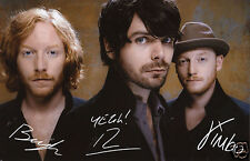 BIFFY CLYRO ENTIRE GROUP AUTOGRAPH SIGNED PP PHOTO POSTER