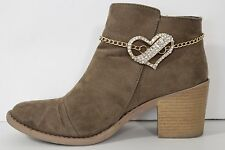 Women Gold Metal Chains Western Boot Bracelet Heel Anklet Shoe Love Heart Charm