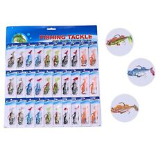 Fishing Hook Baits 30pcs Soft Crankbait Artificial Minnow Fishing Lures Tackle