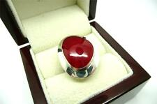 LOVELY RED CORAL 925 SOLID STERLING SILVER RING SZ Q US SIZE 8.5
