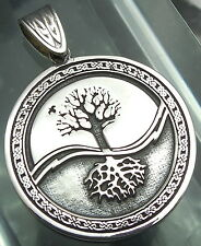Yggdrasil Pendant Celtic Tree of Life Amulet Jewelry 925 sterling silver (p501)