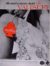 PUBLICITÉ 1967 VALISERE LINGERIE FILLE-FLEUR OU FEMME-CHARME - ADVERTISING