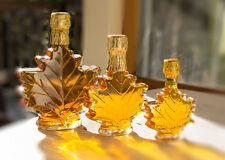 Pure Maple Syrup in Maple Leaf Gift Bottles 16.9 oz Grade A Light Amber