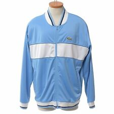 LaCoste Sport Powder Blue Track Jacket Crocidile Men's 7 XXL Made France