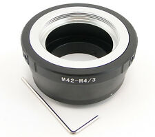 Adapter M42 lens to Micro 4/3 MFT M4/3 Camera Panasonic G1 G2 G3 GH1 GH2 GF1 GF3