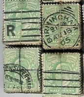 GB KE7th 1/2d GREEN AG01 KILOWARE BUNDLE...100 Stamps