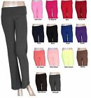 Foldover Soft Yoga Gym Fitness Sport Pant Comfy Basic Long Slim Fit Spandex