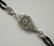 Antique Platinum Diamond Art Deco Cocktail Watch Original 1920s