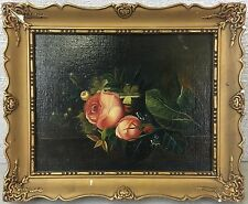 STILLLEBEN MIT ROSEN - ANTIK ANTIQUE - OLD OIL PAINTING - 19. CENTURY ROSES