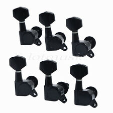 6R Guitar String Inline Tuning Pegs Tuners Keys Machine Heads Black