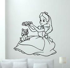 Alice In Wonderland Wall Decal Cartoon Vinyl Sticker Kids Art Decor Mural 7crt