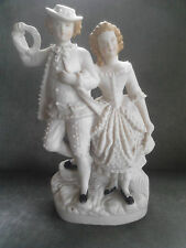 "GERMAN BISQUE FIGURE GROUP BOY / GIRL 9"" high"