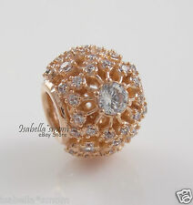 INNER RADIANCE 100% Authentic PANDORA Rose GOLD Plated CLEAR CZ Charm/Bead NEW