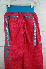 ZUMBA WEAR FITNESS DANCE CARGO PANTS! Bright Pink & Blue Size Small 100% Nylon