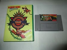 Donkey Kong Country Competition Cartridge Super Nintendo SNES Case Championship