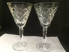 RARE HUGE PAIR (2) WATERFORD COMERAGH PATTERN SHERRY PORT APERITIF GLASS 6.5