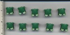 LEGO x10 Green Minifig, Armor Breastplate with Leg Protection castle knight king