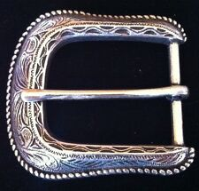 SIMPLE ANTIQUE SILVER WESTERN COWGIRL RODEO BELT BUCKLE BOUCLE DE CEINTURE