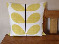 HANDMADE CUSHION COVER USING ORLA KIELY NEW SOFT LEMON SCRIBBLE STEM FABRIC