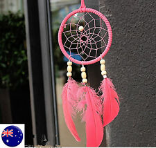 PINK Dream Catcher Net Web Feather Hanging Craft Gift her Car Decoration Decor
