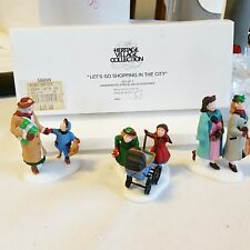 DEPT 56 Lets Go Shopping in the City 3 pc Christmas in the City MINT RET 58899