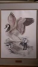 Charles Rowe - Florida Wildlife Artist  Canada Geese - 446/475 Signed Piece