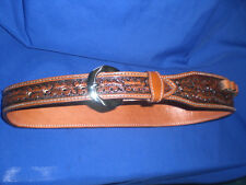 CUSTOM MADE  RANCH HAND BELT WITH CARTRIDGE LOOPS BULLET    LEATHER  MARE LEG