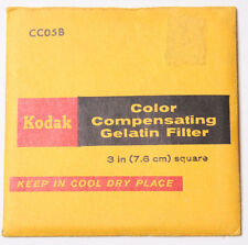 "Kodak CC05B Color Compensating Gel Filter - 7.6cm 3x3"" Square - NEW Old Stock"