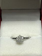 1.09ct Natural Mine Diamond Solitaire Engagement Ring 14K Gold Tiffany-style