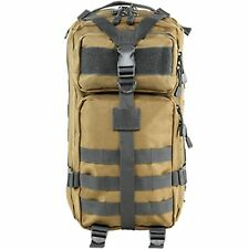 NcSTAR Tactical Hunting Camping Outdoor Compact MOLLE Backpack Tan/Urban Gray