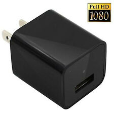 32GB HD 1080P Mini AC Adapter Plug Charger Hidden spy camera cycle Recording DVR