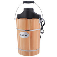 Costway 6 Quart Electric Ice Cream Freezer Maker Frozen Machine Wooden Bucket