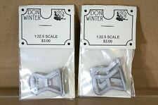 DON WINTER KIT BUILT LGB G GAUGE WHITE METAL WAGON STEPS x 2 DETAILING PARTS nd