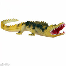 "Realistic Croc 12 "" inch Soft Plastic Crocodile Nature Kids Squeeker Toy Pets"