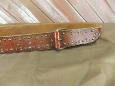 American Eagle Belt Studded Distressed Leather Brown Women's Size M