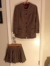 Vintage 1960'S Saks Fifth Avenue  Wool Jacket And Mini Skirt  Size 5