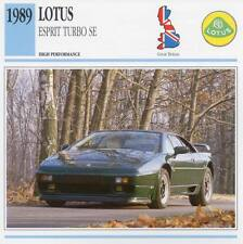 1989 LOTUS ESPRIT TURBO SE Classic Car Photo/Info Maxi Card