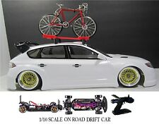 1/10 Scale Subaru Impreza WRX RTR Custom RC Drift Cars 4WD 2.4Ghz & Charger WHT